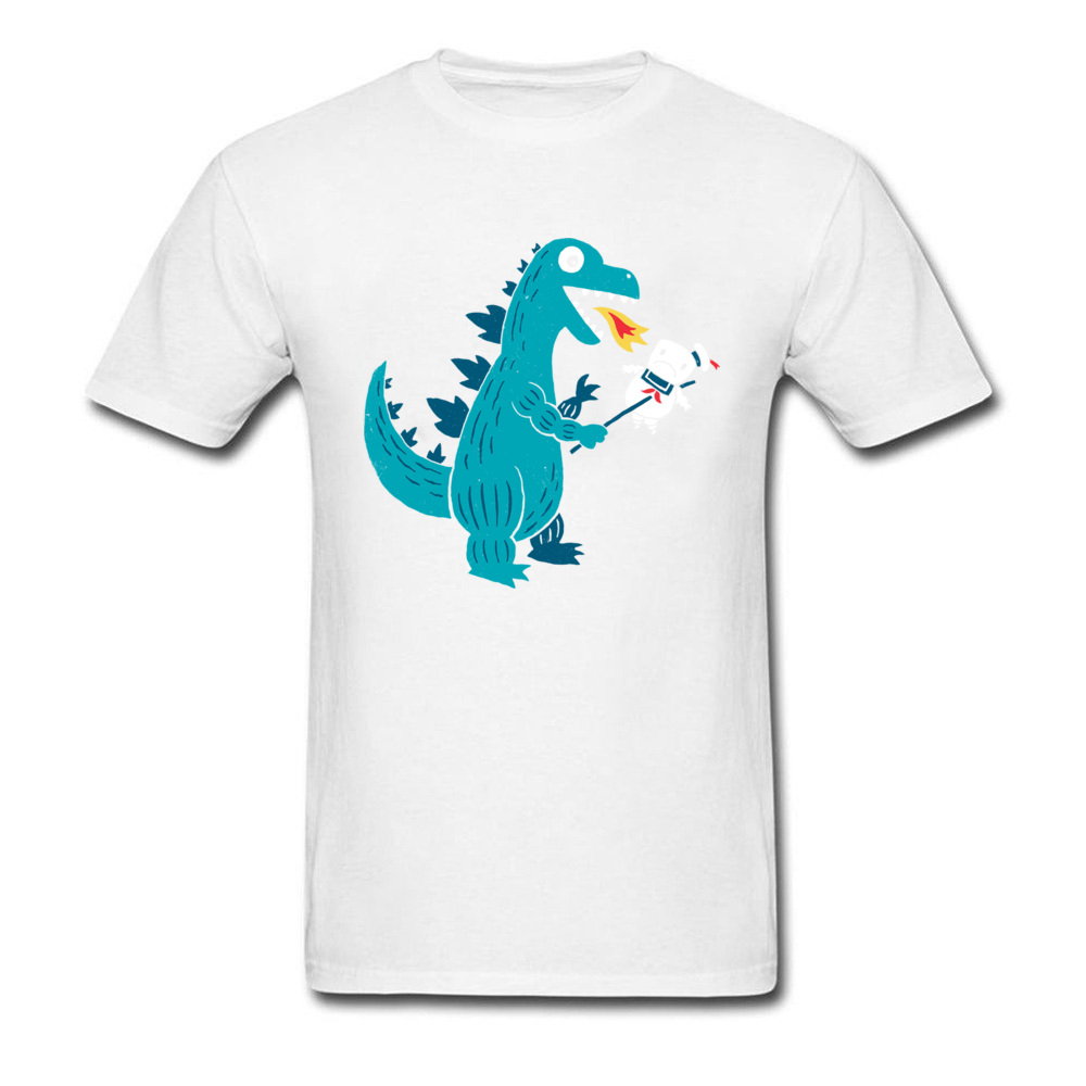 Crewneck Mens T Shirt 100% Cotton Funny Cartoon Printing Tshirt Video Dinosaur Puppet T-Shirt Summer Fashion Tops Tees