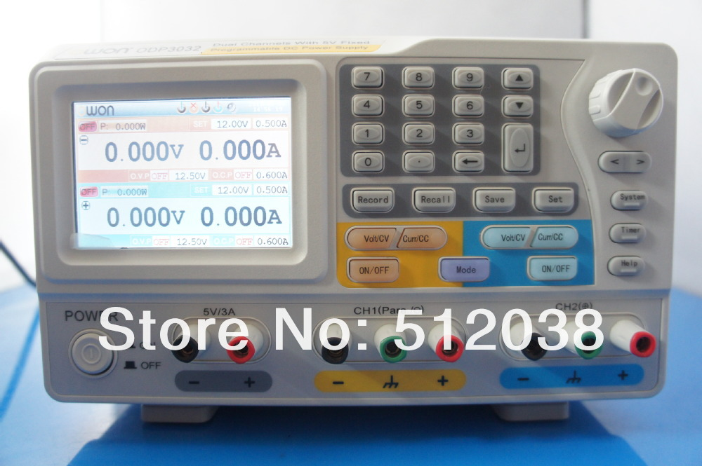 OWON ODP3032 195W 2-CH 0~30V 0~3A Output With 5V Fixed Programmable Linear DC Power Supply 2+1 Channel цена