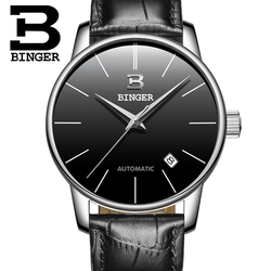 Switzerland BINGER watches men luxury brand Relogio Masculino water resistant Stainless steel Mechanical Wristwatches B-5005M-4