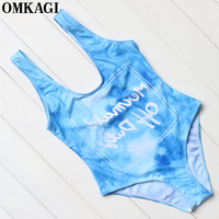 OMKAGI Brand One Piece Swimsuit Women Swimwear Sexy Hollow Out Push Up Bodysuit Bathing Suit Summer