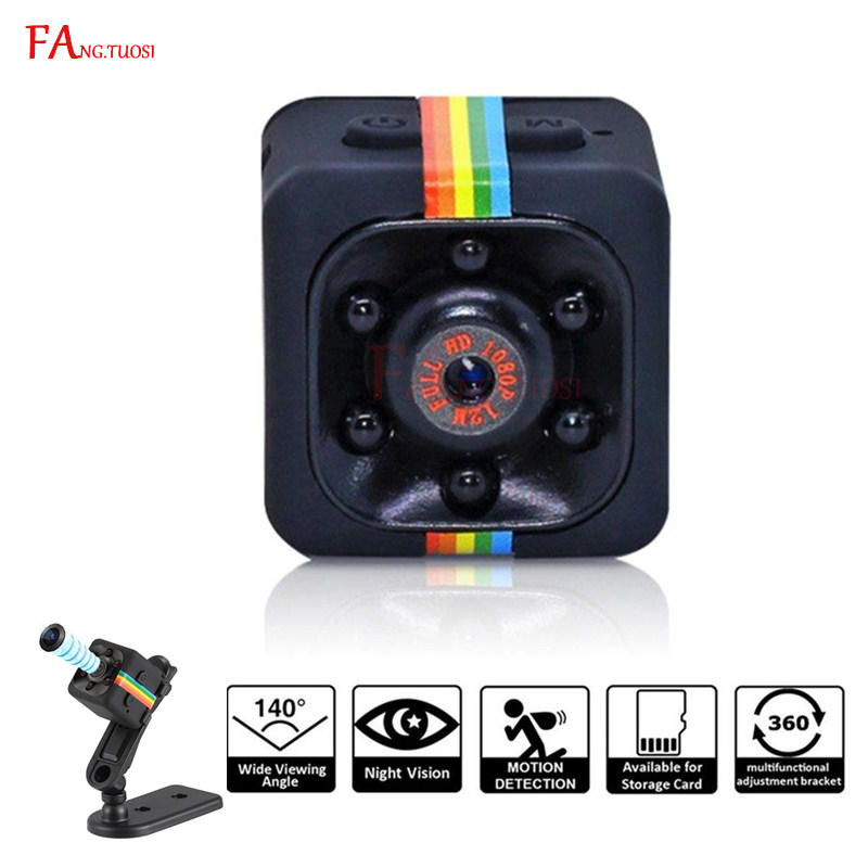 1080P SQ11 Mini Camera HD Infrared Video Recorder Sport Digital Camera Support TF Card DV Camera Night Vision Camcorder Car DVR