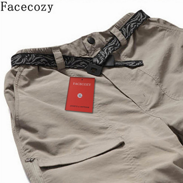 Facecozy Men Summer&Spring Quick Drying Hiking&Trekking Pants Male Removable Camping Pants & Outdoor Ultra-thin Trousers 4