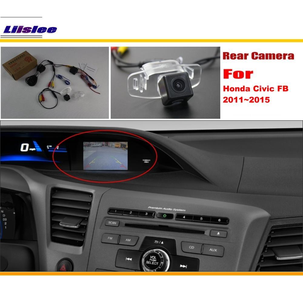 Автомобильный комплект обратной камеры заднего вида для Honda Civic (FB) 2011 2012 2013 2014 2015, вид сзади, парковочный C RCA, совместимый оригинальный экран
