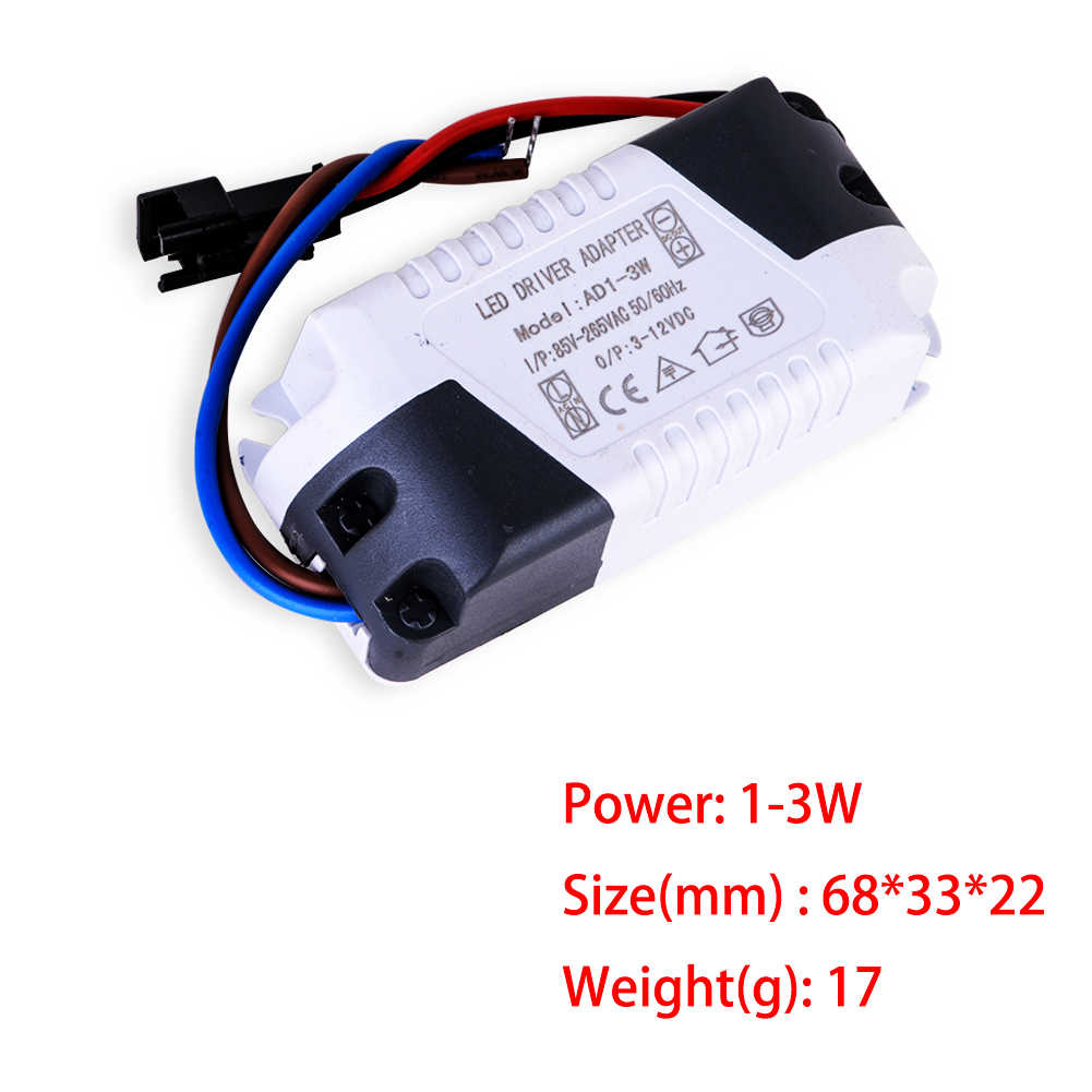 1-3W, 4-7W, 8-12W, 12-18W LED Driver LED Ceiling Light Tube Light Voltage Transformer Driving Power Supply