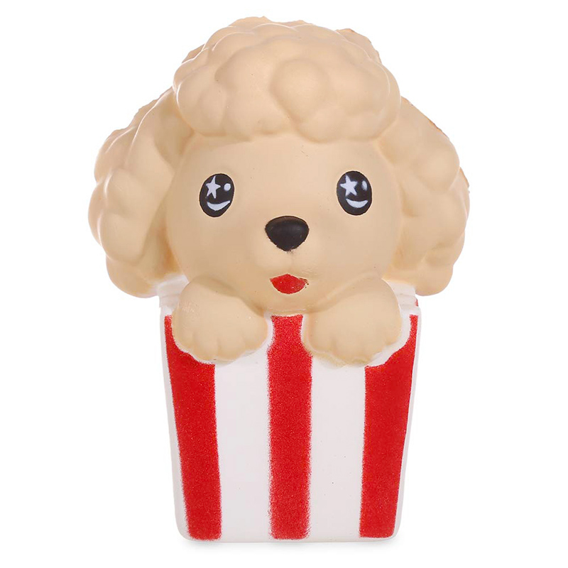 Cute Popcorn Dog Squishies Slow Rising Simulation Scented Soft Squeeze Toy Stress Relief Original Package Funny for Kid Gift ToyStress Relief Toy