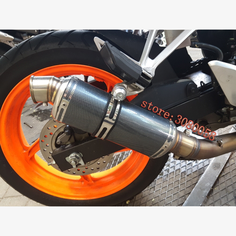 Motorcycle Universal Carbon Fiber Color Scooter Modified Yoshimura Muffler Exhaust Pipe CB600 YZF FZ400 Z750 RACING