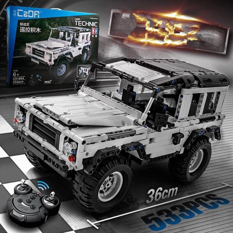 Técnica de la serie 553 de piezas defensor RC modelo de coche SUV DIY bloques de construcción de coche de ladrillo juguetes para los niños Compatible con Legoed