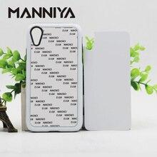 MANNIYA ריק סובלימציה קשה כפולה 2 ב 1 TPU + מחשב מקרה טלפון עבור iphone XR עם מוסיף אלומיניום משלוח חינם! 50 יח\חבילה