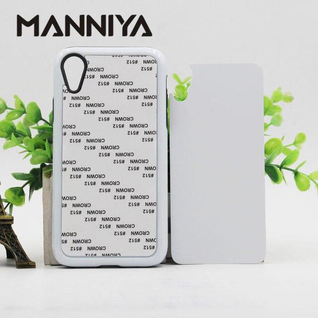 MANNIYA فارغة التسامي صعبة مزدوجة 2 في 1 حافظة هاتف من البولي يوريثان + قطعة آيفون XR مع إدراج الألومنيوم شحن مجاني! 50 قطعة/الوحدة