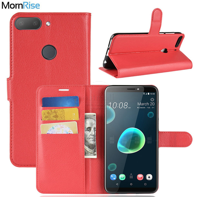 purchase cheap 857d9 6ca01 US $4.49 |New Luxury PU Leather Flip Cover For HTC Desire 12 plus Case  Wallet With Stand Card Pockets Litchi pattern Phone Bags Fundas-in Wallet  Cases ...