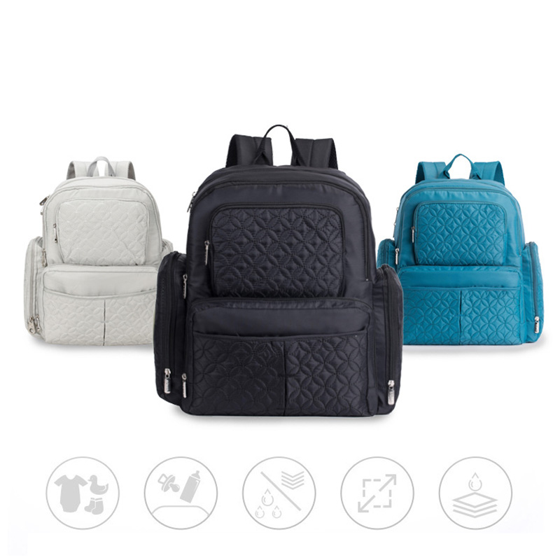5 Pcs Baby Diaper Bag Large Capacity Baby Care Nappy Bags Multifunction Stroller Hang Tote Mummy Nylon Backpack Mochila BB6029 (1)