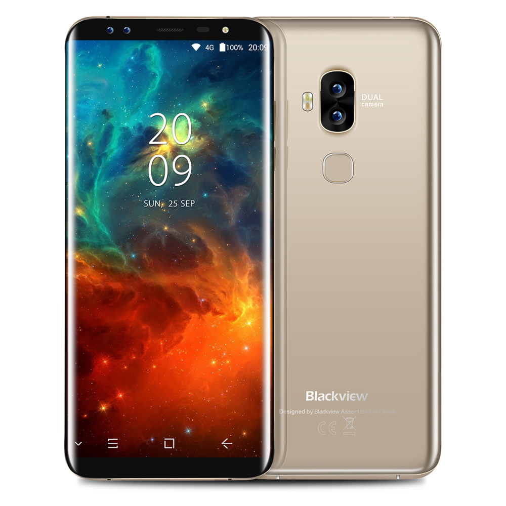Blackview S8 4G Phablet Smartphone 5.7inch Android 7.0 MTK6750T 1.5GHz Octa Core 4GB RAM 64GB ROM 8.0MP 0.3MP Dual Front Cameras