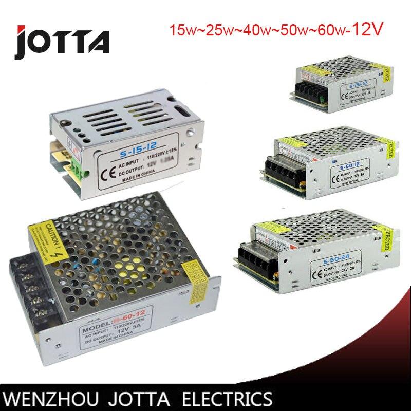 Бесплатная доставка 12v15w 25 Вт 40 Вт 60 Вт LED Импульсный блок питания 12 В источника  ...