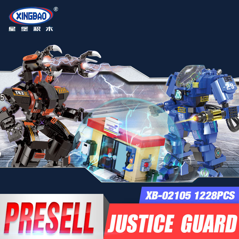 XingBao 02105 New Kids Toys City Series The Mech Battle Set Model Building Blocks Bricks Toys For Kids Birthday Christmas Gifts xingbao 06009 military series the extreme snowmobiling sets legoinglys building nano blocks bricks toys for children kids