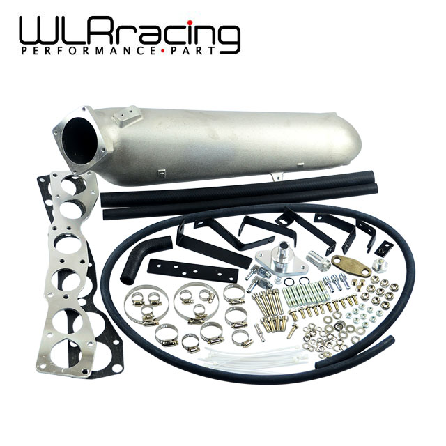WLR RACING - CAST ALUMINIUM INTAKE MANIFOLD for 93-98 Supra 2JZGTE FOR Toyota 2JZ Intake Manifold high quality New Brand air intake aluminium pipe kit for toyota corolla 1 6 1 8 2 0 rumion of rh drive noah pls contact for other car models