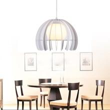 цены Modern Pendant Lamp Loft  Dining Room Light Fixtures Black/white Iron Glass Lampshade Home Deco Include 5W Led Bulb E27 110-220V
