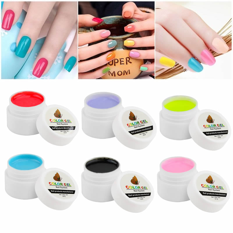 Gel Nail Polish For Sale: Hot Sale Pure Colors Gel Nail Polish UV Nail Art DIY For