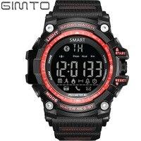 GIMTO Brand Digital Watch Men Military Smart Pedometer Calorie Led Watches Waterproof Bluetooth Relogio Masculino Clock