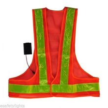 JINGLESZCN Flashing LED Safety Vest Reflective Workers With LEDS And 2 Flashing Functions Ultra Bright Orange Strips Outdoor
