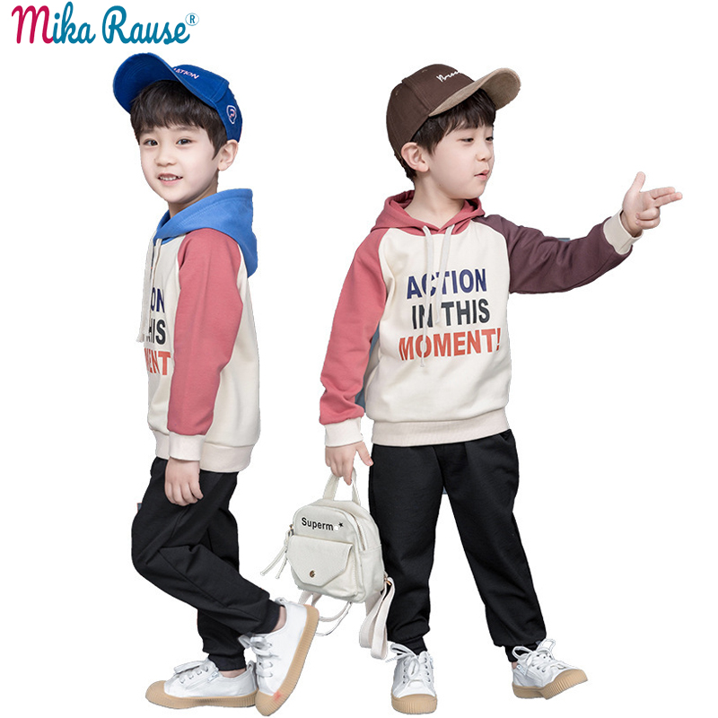 New 2pcs fashion Kids clothes for boys hooded cotton clothing children printed full sleeve baby active clothes boy sport costumeNew 2pcs fashion Kids clothes for boys hooded cotton clothing children printed full sleeve baby active clothes boy sport costume
