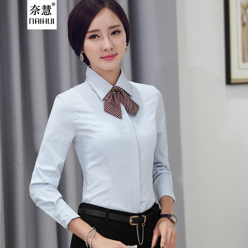 Aliexpress.com : Buy Lenshin New fashion White Shirt Women work ...