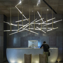 Creative Gold Crystal Libra Pendant Light 220V LED Bubble hanging lamp for Hotel Restaurant Office