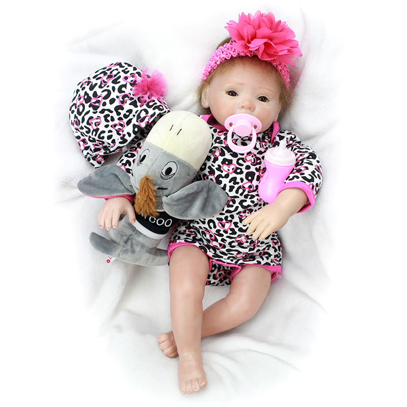 Nicery 20inch 50cm Bebe Doll Reborn Soft Silicone Boy Girl Toy Reborn Baby Doll Gift for
