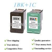 1set Ink Cartridges Suit For HP850 854 Remanufactured Suit For HP Deskjet5438 PSC1508 Photosmart7838 4 Colors