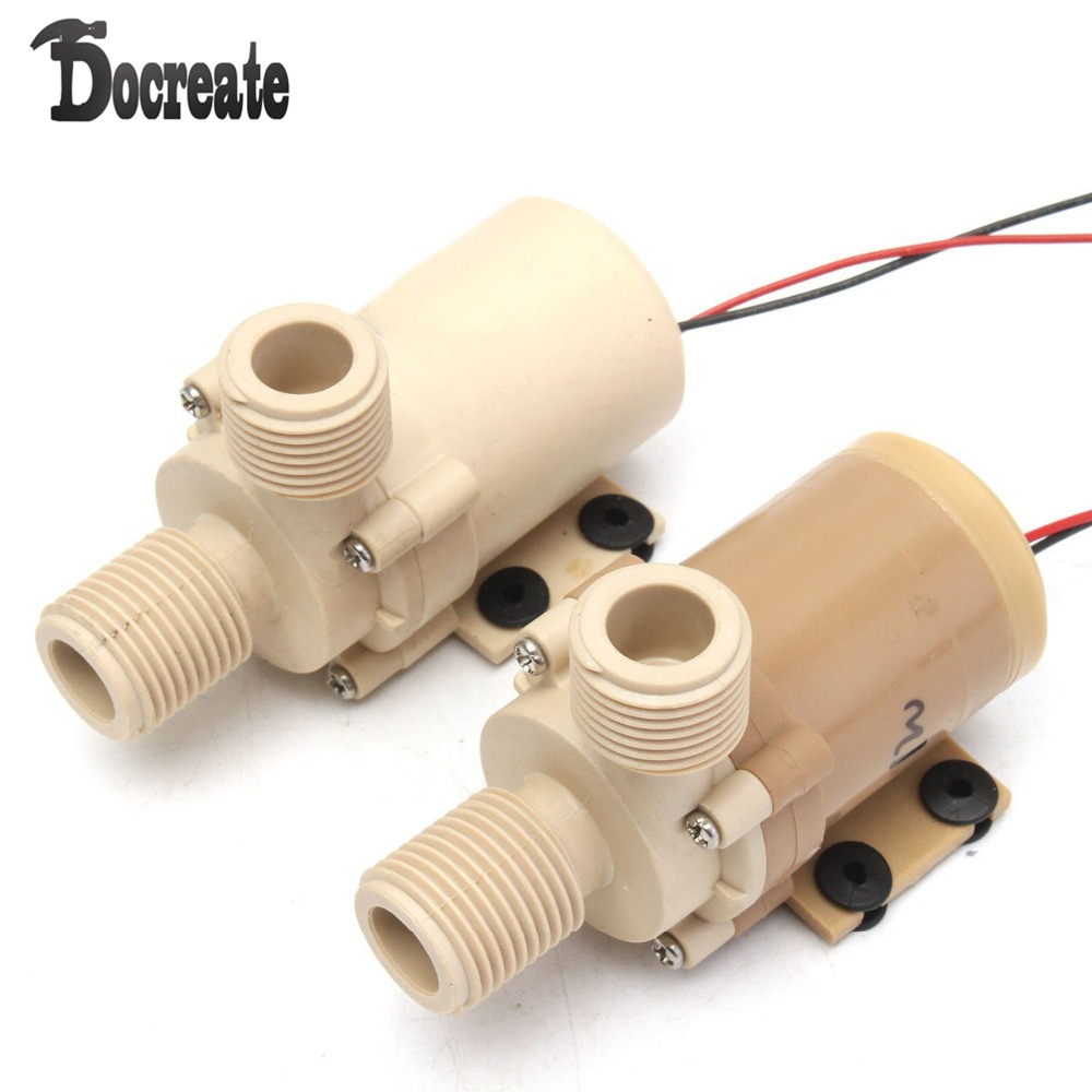 DC 12V/24V Solar Circulation Brushless Motor Water Pump Ultra Quiet Plastic dc 12v 1a powerful micro brushless magnetic amphibious appliance water pump