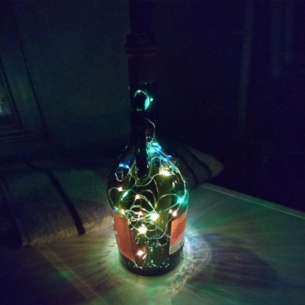 10 20 30 светодиодный s пробковый светодиодный светильник, медная проволока, праздничный уличный Сказочный светильник s для рождественской вечеринки, свадебного украшения