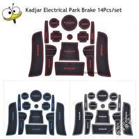 Car Interior Accessories Rubber Auto White Luminous Gate Door Pad Anti Slip Cup Holder Mat Cushion