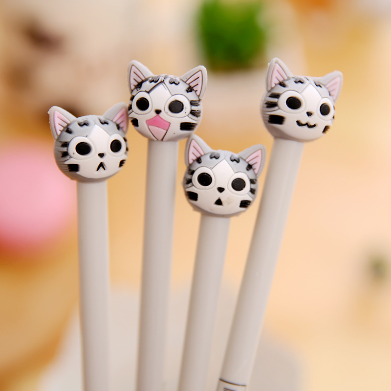12 pcs/lot Korean stationery Kawaii Japanese Cat 0.5mm black ink pens for writing cute signature gel pen kids gift school supply