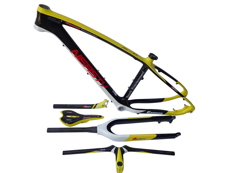 Mtb-Frame Fork-Handlebar Saddle Seatpost Carbon 26 29 with 15-/17- title=