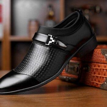 Zapatos De Vestir sin cordones para Hombre, calzado De negocios, Formal, Social,...
