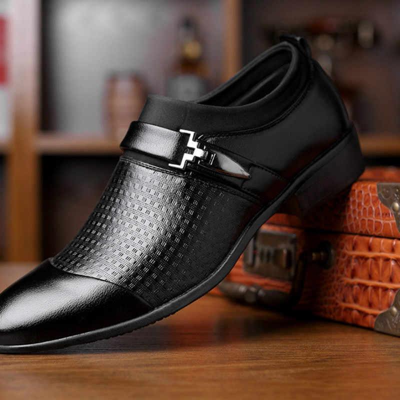 2019 รองเท้า Loafers Slip on Men รองเท้าธุรกิจรองเท้า Zapatos De Hombre De Vestir รองเท้าผู้ชาย sapato สังคม