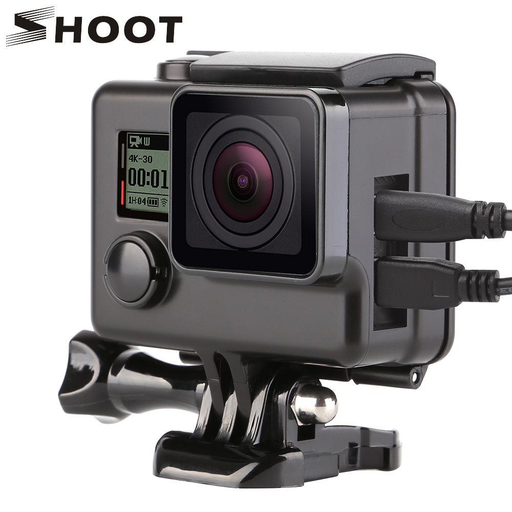 SHOOT Side Open Protective Housing Case For Gopro Hero 4 3 3+ Action Camera Skeleton Protector Cover For Go Pro 3+ 4 Accessory