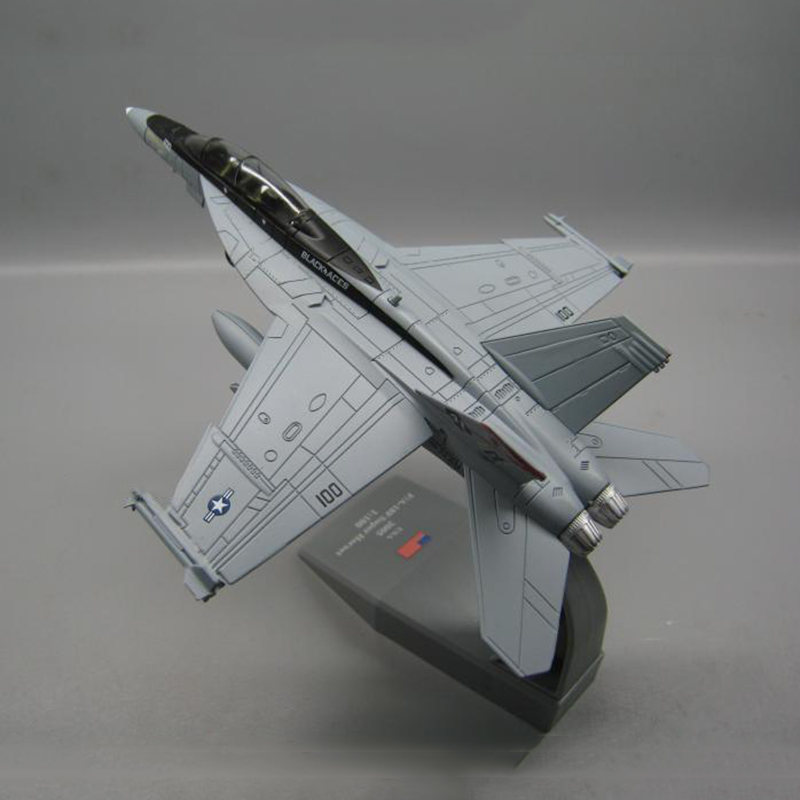 1/100 Scale Military Model Toys <font><b>F18</b></font> F-18 F/A-18 Boeing Hornet Strike Fighter USA Army Air Force Diecast Metal Plane Model Toy image