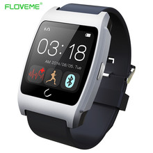 FLOVEME D6 Heart Rate Smart Watch Intelligent Bluetooth4 0 Bracelet Wrist Band Wearable Device for IOS