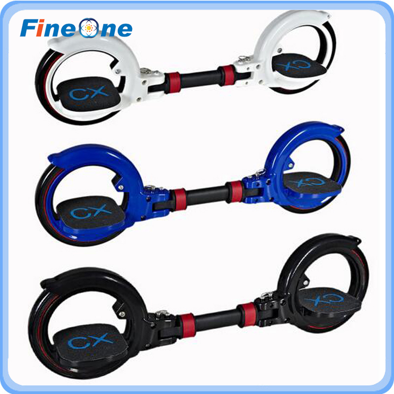2017 Skate Cycle X8 Scooter Freestyle Stunt Scooter Skate Rollers adulte Double rouleau piquets 2 roues équilibrage béquille CX