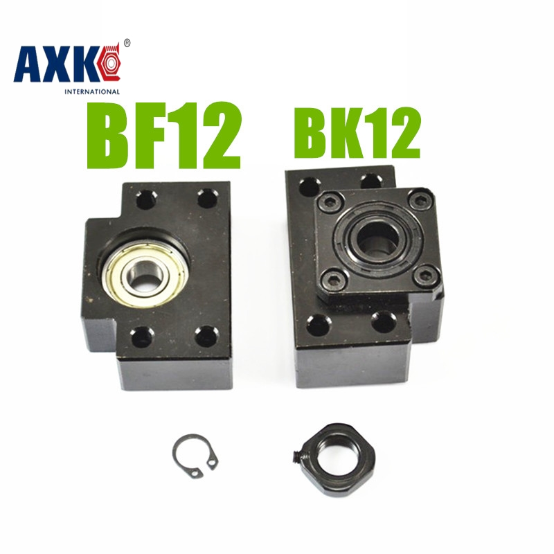 AXK BK/BF12 ballscrew end support for SFU1605 SFU1610 SFE1616  ballscrew  Fixed side BK12+BF12 Floated side  supports unit 3pairs lot fk25 ff25 ball screw end supports fixed side fk25 and floated side ff25 for screw shaft