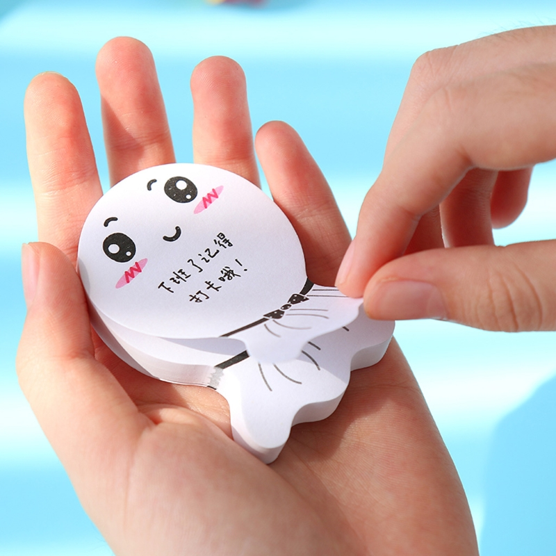 diy Sunny Doll smily memo pad Sticky label post it school sticky note for school office supplies stationery wholesale new D14