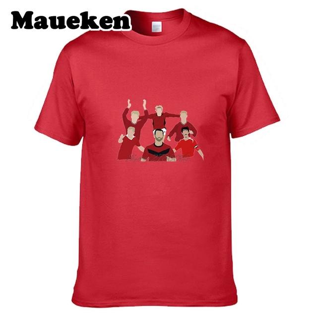 Men's Class of 92 Golden generation David Beckham Ryan Paul Scholes Giggs Gary Neville Philip Neville Butt T-shirt tee W17071015