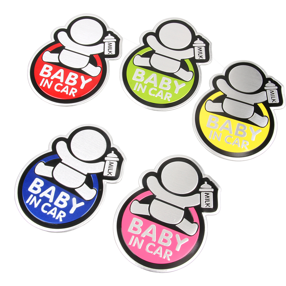Image 2 - Baby IN CAR Warning Decal 3D Sticker Reflective Waterproof Car Stickers For Mazda Ford Chevrolet Cruze Kia Skoda Audi BMW VW-in Car Stickers from Automobiles & Motorcycles