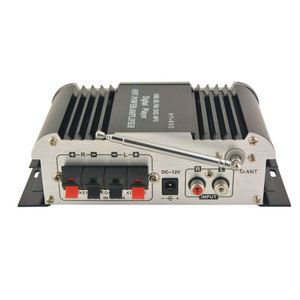 Image 2 - HY600 מיני מגבר לרכב מגבר 20 W + 20 W FM אודיו מיקרופון MP3 רמקול סטריאו מגבר עבור אופנוע רכב בית שימוש