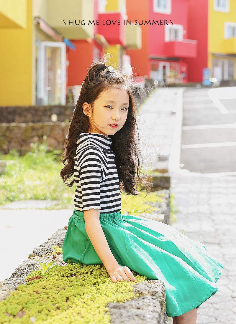 b3123eb73632 2018 summer girls dresses striped casual teens clothing children 12 years  old 170 cm -in Dresses from Mother   Kids on Aliexpress.com