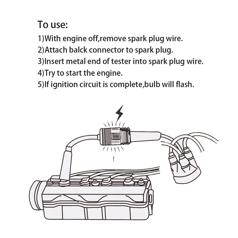 Машина Свеча зажигания тест er Система зажигания Катушка двигателя Inline Autos диагностический тест инструмент в линии воспламенение свеча тест er провода свеча тест