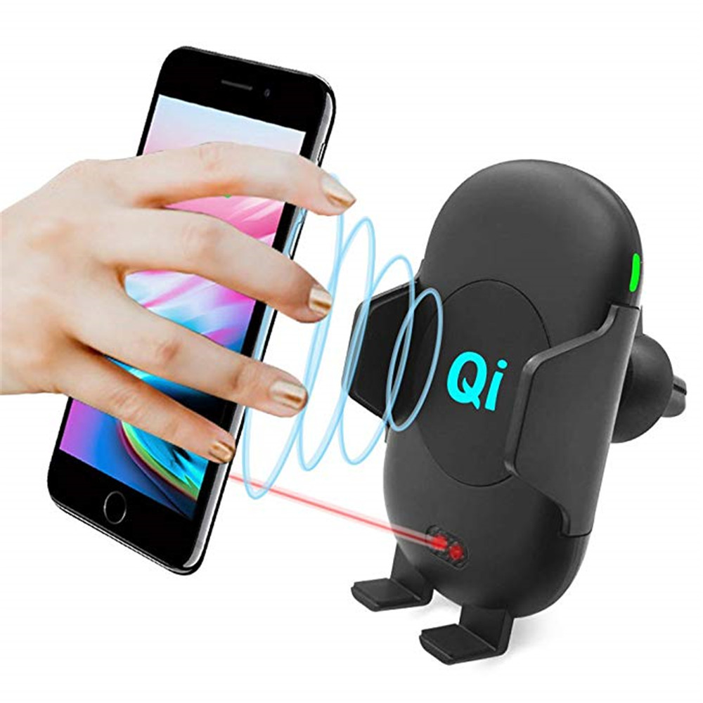 Annchep Car Automatic Qi Fast Wireless Car Phone Charger for IPhone X 8 Plus Samsung S9 S8 Plus Note 8 with Infrared Sensor