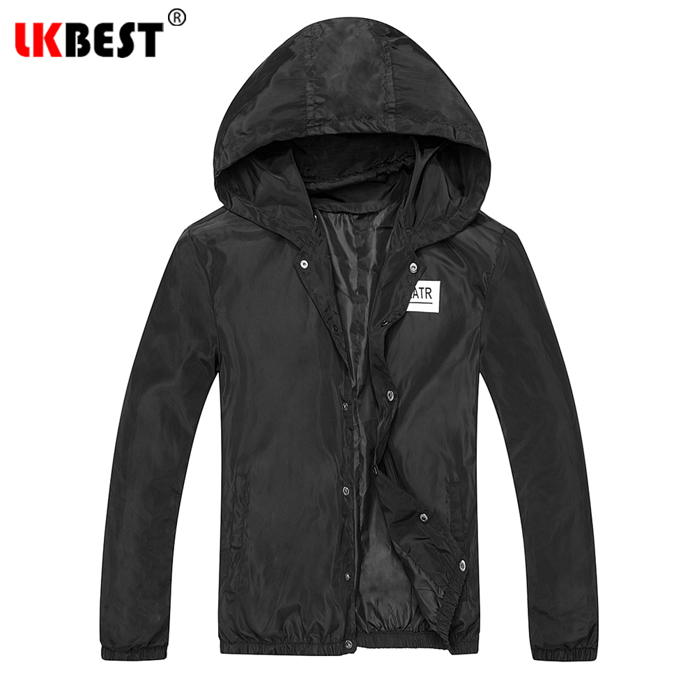 LKBEST 2018 New fashion spring thin solid mens jacket Windproof casual hooded Outerwear man Jacket Coat brand clothing (J03)