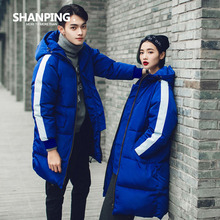 SHANPING/Winter Women 2016 New Parka Casual Outwear Military Hooded Thickening Cotton Coat Winter Jacket Coats Lovers Clothes