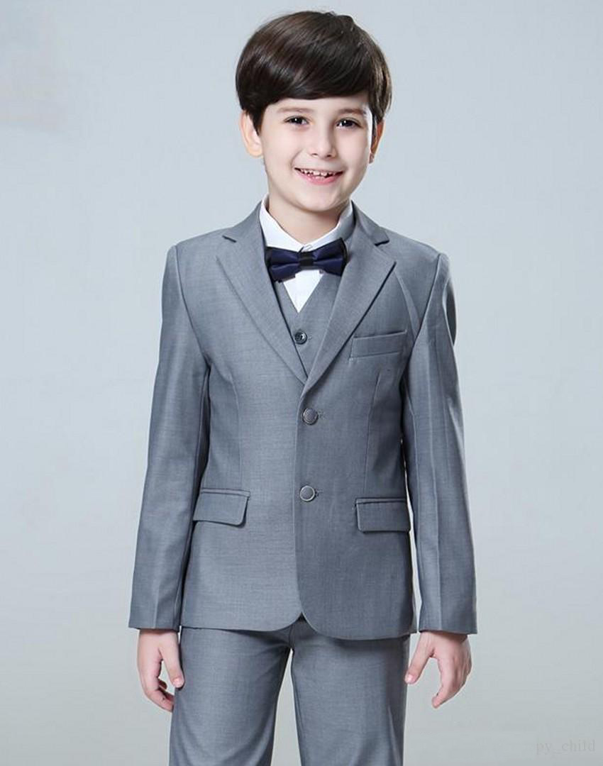 Blue Flower Boys Children Wedding Groom Tuxedos Kid/'s Formal Party Prom Suits